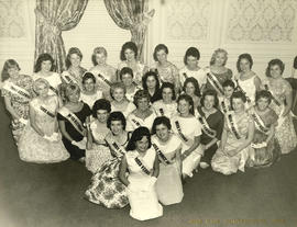 Group portrait of Miss P.N.E. 1959 contestants
