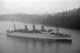 "[""Empress of Canada"" leaving harbour]"