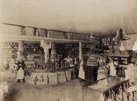 Interior view of W.H. Walsh Grocer