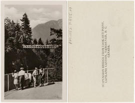 Suspension Bridge from Look-Out Point, Capilano Canyon, Vancouver, B.C. Canada