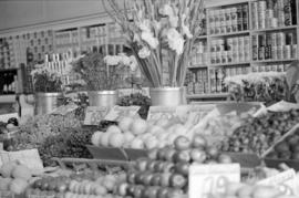 Fruit display inside of Standard Produce Co., 1052 Robson Street