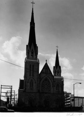 Holy Rosary Cathedral, Richards Street facade