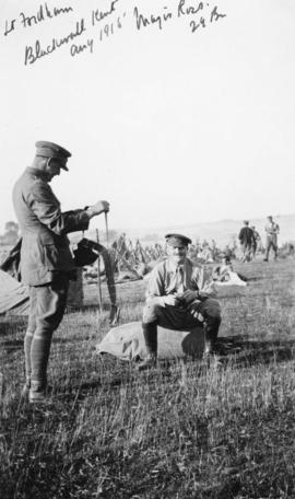Lt. Fordham and Major Ross of the 29th Battalion at Blackwell, Kent, England