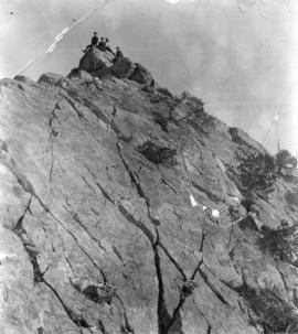 [Boys on the summit of Mount Crown]