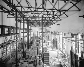 [Construction of switchs and switch structures in high tension switch room of Buntzen Lake Power ...