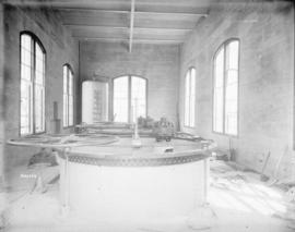 [Interior of partially constructed gate house for Buntzen Lake Power Plant number two]
