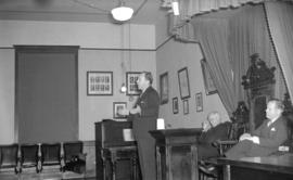 [Man making a speech during the 1941 Provincial election campaign]
