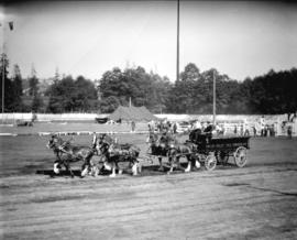 [Fraser Valley Milk Producers' Association wagon and horse team, Vancouver Exhibition]