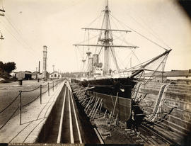 "H.M.S. ""Amphion"" in Dry Dock, Esquimalt, B.C."