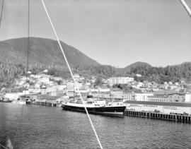 "[""Chilcotin"" at Union Steamship Co. Wharf] Ketchikan, Alaska"