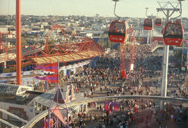 [Expo 86 gondola and crowds]