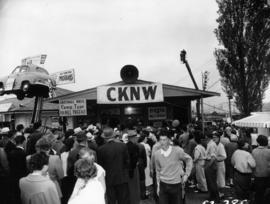 Crowd gathered around CKNW remote radio booth