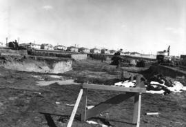 [Job no. 787 : photograph of Lethbridge Municipal Hospital construction site] : looking into nort...