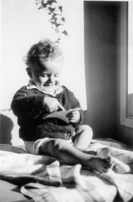 Bruce's 1st birthday, Feb. 13, 1956