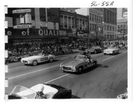 Sports Cars Club of B.C. Mercedes-Benz cars in 1956 P.N.E. Opening Day Parade