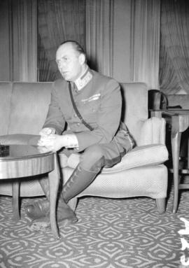 [Portrait of Crown Prince Olaf of Norway at the Hotel Vancouver]