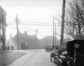 [View of Cambie Street, looking south from near Pender Street]