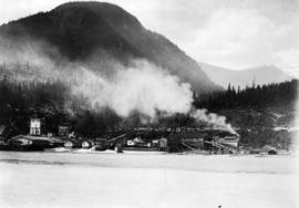 [View of Woodfibre Pulp Mill, Mill Creek Lumber Co. Sawmill and Cedar Creek Logging Co. operation...