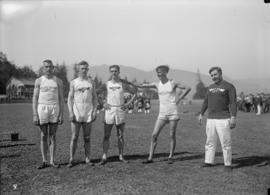 Athletic team on the field