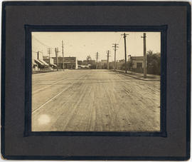 [B.C.E.R. (B.C. Electric Railway) street car lines on Main Street near 20th Avenue]