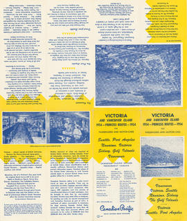 Victoria and Vancouver Island 1954 Princess routes for passengers and motor cars : side 1