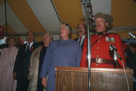 Group singing at the Centennial Commission's Canada Day celebration