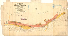Canadian Pacific Railway plan of foreshore at Vancouver, Burrard Inlet as shewn on plan fyled in ...
