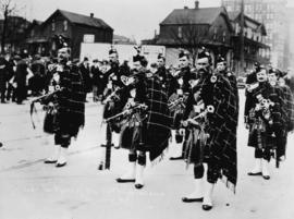 The pipers of the 72nd Highlanders, Vancouver, B.C.
