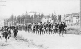 [The 6th Regiment Duke of Connaught's Own Rifles march through Vernon]