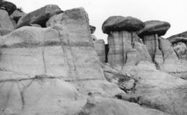"[""The Hoodoos"" (dolomite formations) in the Badlands]"