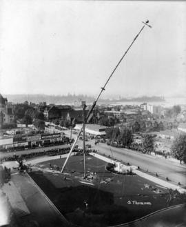 Erection of Court House flagpole
