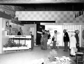 "1958 PNE bldg wing : [Bank of Montreal display and ""children's corner"""