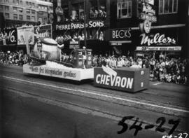 Chevron float in 1954 P.N.E. Opening Day Parade
