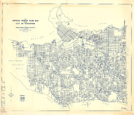 The official street name map of the City of Vancouver