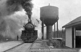 The train leaving Capreol: standard engine watering equipment
