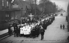 Church life in the West, Good Friday Procession - Vancouver