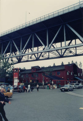 View of Granville Street Bridge from Granville Island