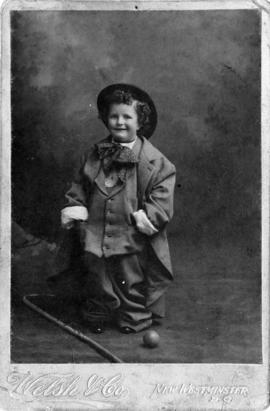 Portrait of John Howard Godfrey, aged 3 years