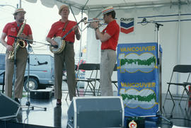 Band performing at Vancouver AM sign unveiling
