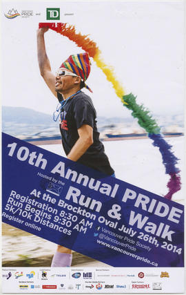 10th annual Pride run and walk at the Brockton Oval : July 26th, 2014
