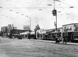 [View of the west side of Granville Street from Broadway]