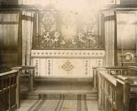 [Interior of the Chapel of  St. James' Church at Oppenheimer Street and Gore Avenue]