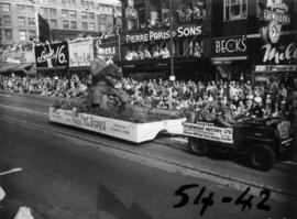 Canadian Forestry Association float in 1954 P.N.E. Opening Day Parade
