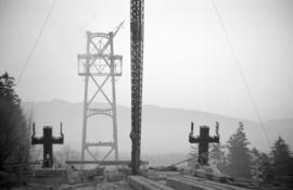 [Lions Gate Bridge under construction]