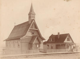 [The first St. Paul's Church and vicarage - 1222 to 1226 Hornby Street in Yaletown]