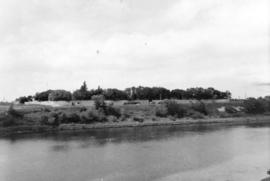 [View of Fort Garry from across the river]