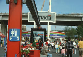 Entrance to the sky train to Canada Pavilion