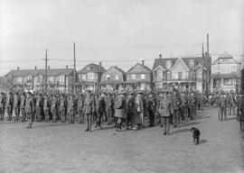 29th Battalion and Yukon Detachment [parade ground inspection]