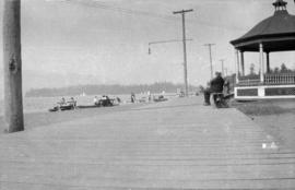 [The bandstand and boardwalk at Kitsilano Beach]