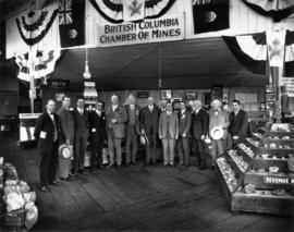 Group photograph under B.C. Chamber of Mines sign
